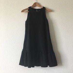NWOT banana republic black drop puplum dress size2
